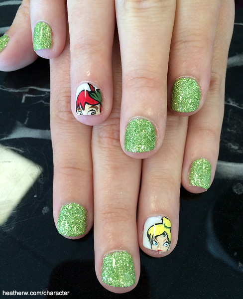 I love characters disney nail art tinker bell and peter pan nail art prinsesfo Gallery